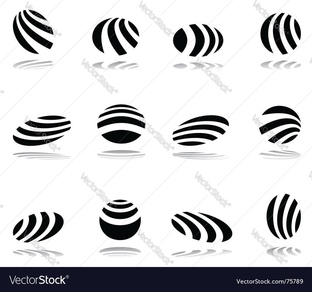 Design elements with zebra pattern vector | Price: 1 Credit (USD $1)