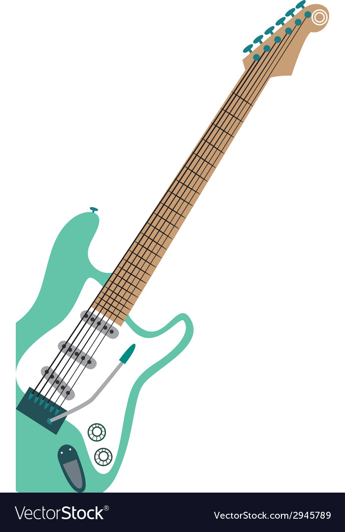 Electric stratocaster vector | Price: 1 Credit (USD $1)