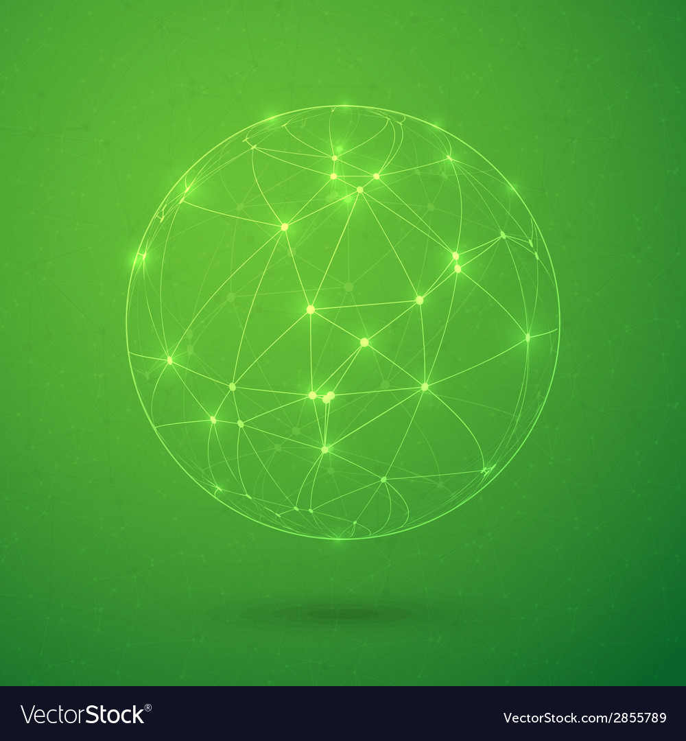 Global network lines with dots connection vector   Price: 1 Credit (USD $1)