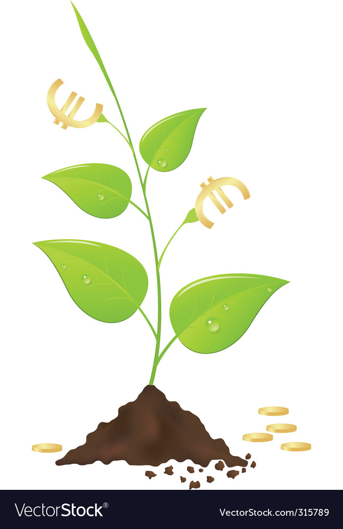 Money tree vector | Price: 3 Credit (USD $3)