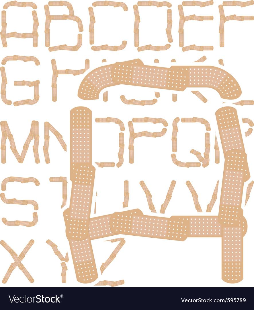 Plaster alphabet vector   Price: 1 Credit (USD $1)