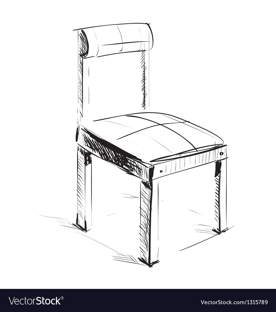 Sketch chair icon vector | Price: 1 Credit (USD $1)