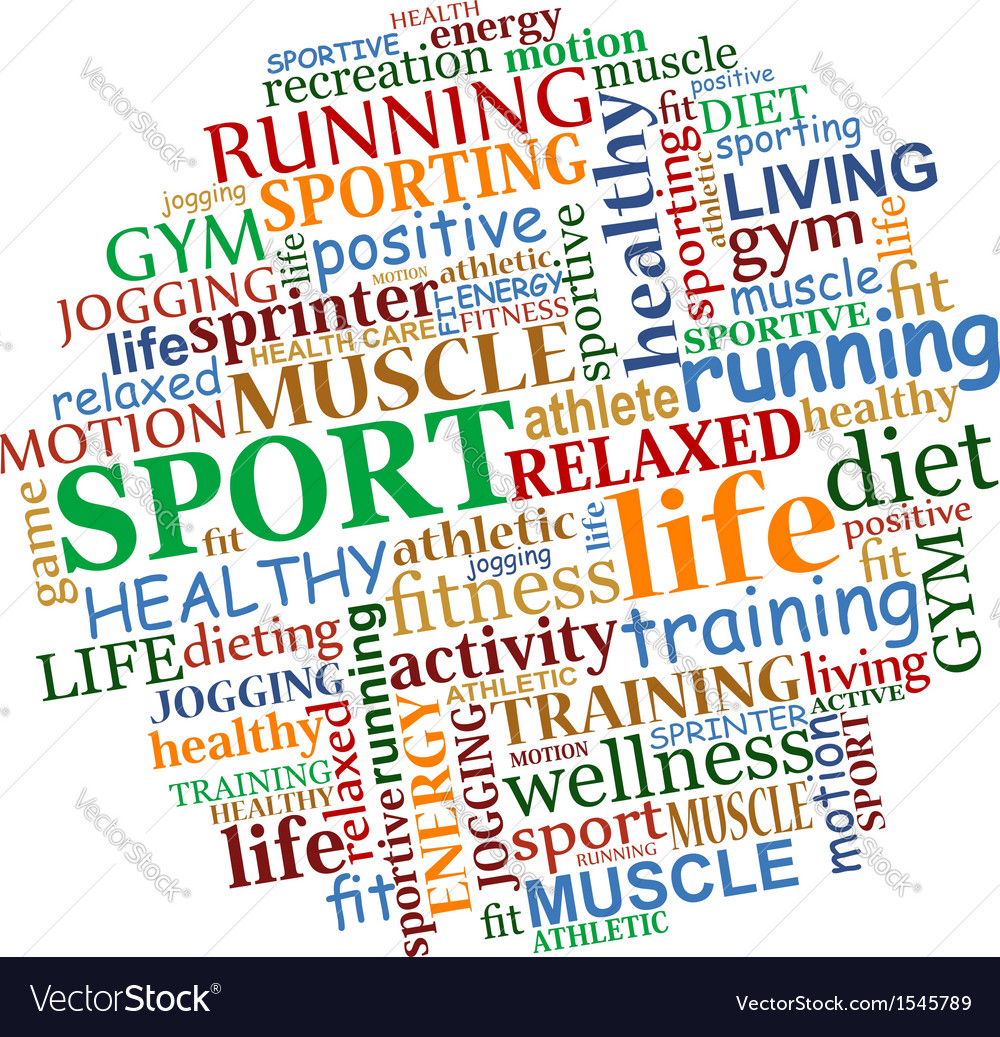 Sports tag cloud vector | Price: 1 Credit (USD $1)