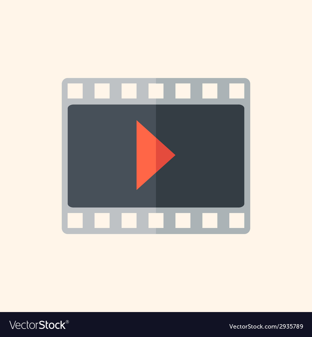 Video flat icon vector | Price: 1 Credit (USD $1)