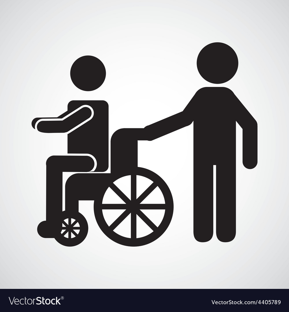 Wheelchair icon vector | Price: 1 Credit (USD $1)
