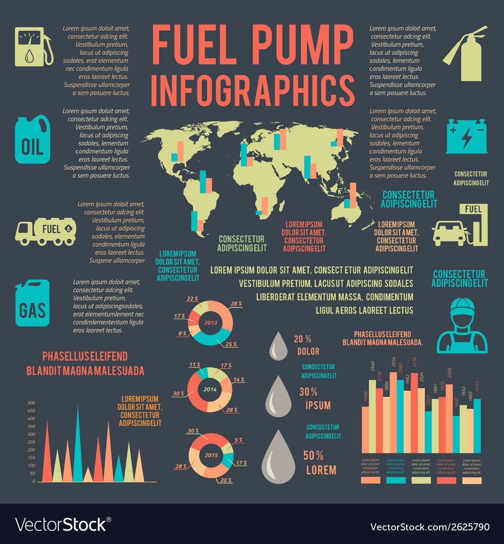 Auto gasoline service infographics vector | Price: 1 Credit (USD $1)