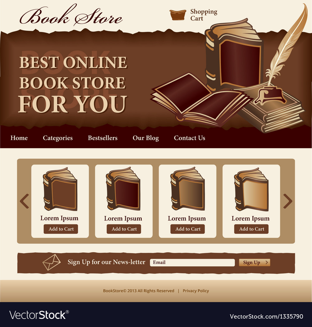 Book store template vector | Price: 3 Credit (USD $3)