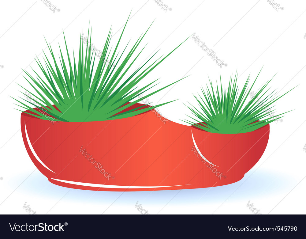 Cactus in pot vector | Price: 1 Credit (USD $1)