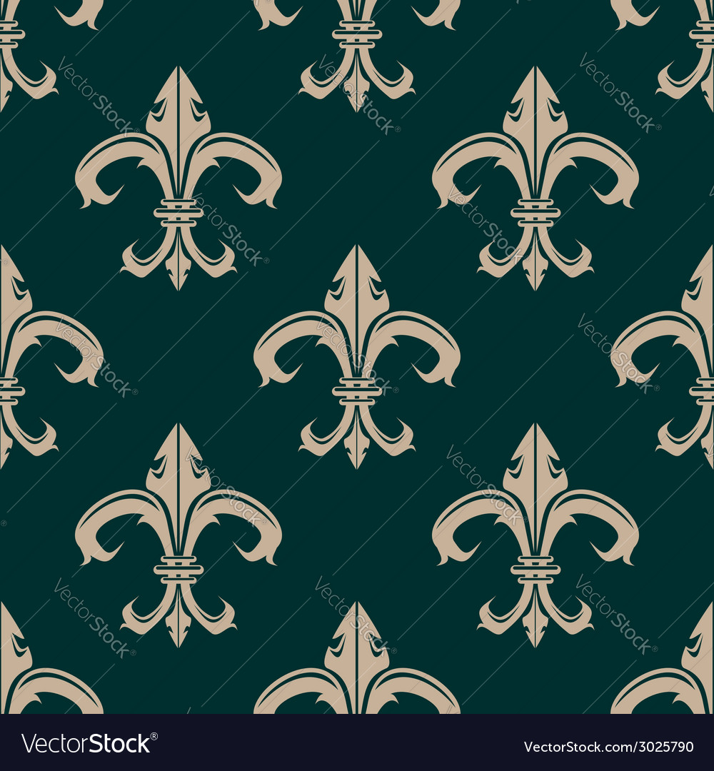 Classic fleur de lys seamless background pattern vector | Price: 1 Credit (USD $1)