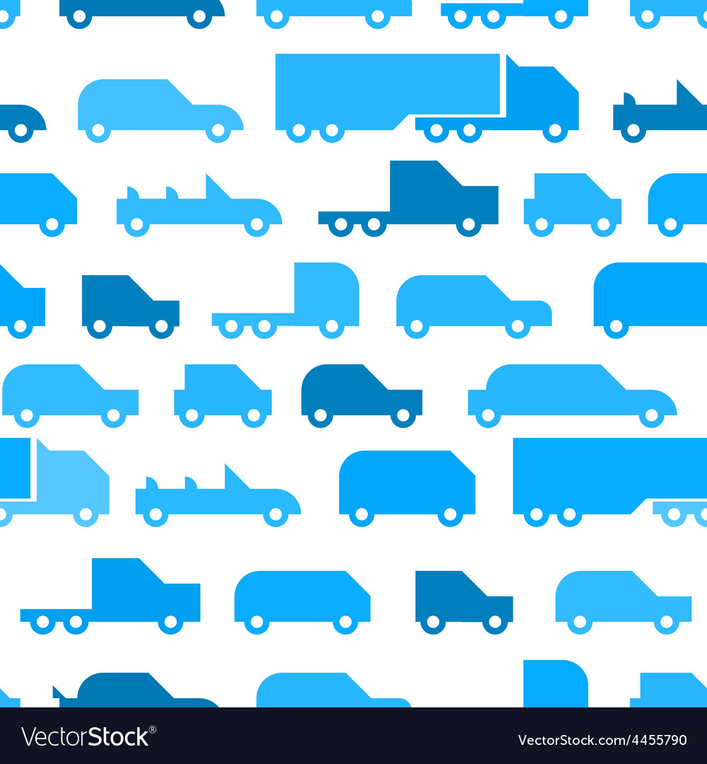 Flat with simple little cars seamless vector | Price: 1 Credit (USD $1)