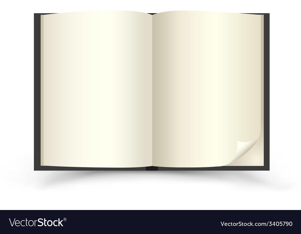 Open black book vector | Price: 1 Credit (USD $1)