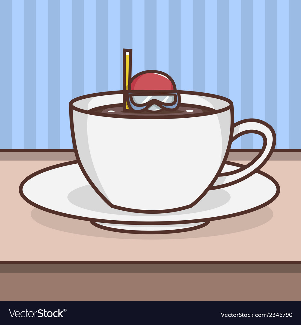 Something on your coffee vector | Price: 1 Credit (USD $1)