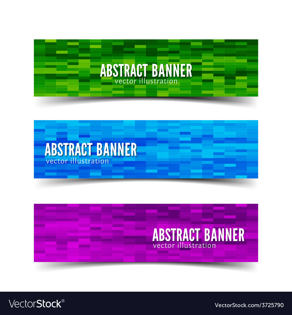 Three abstract banner vector | Price: 1 Credit (USD $1)