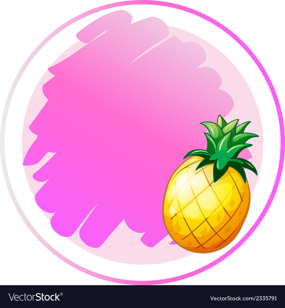 A round template with a pineapple vector | Price: 1 Credit (USD $1)