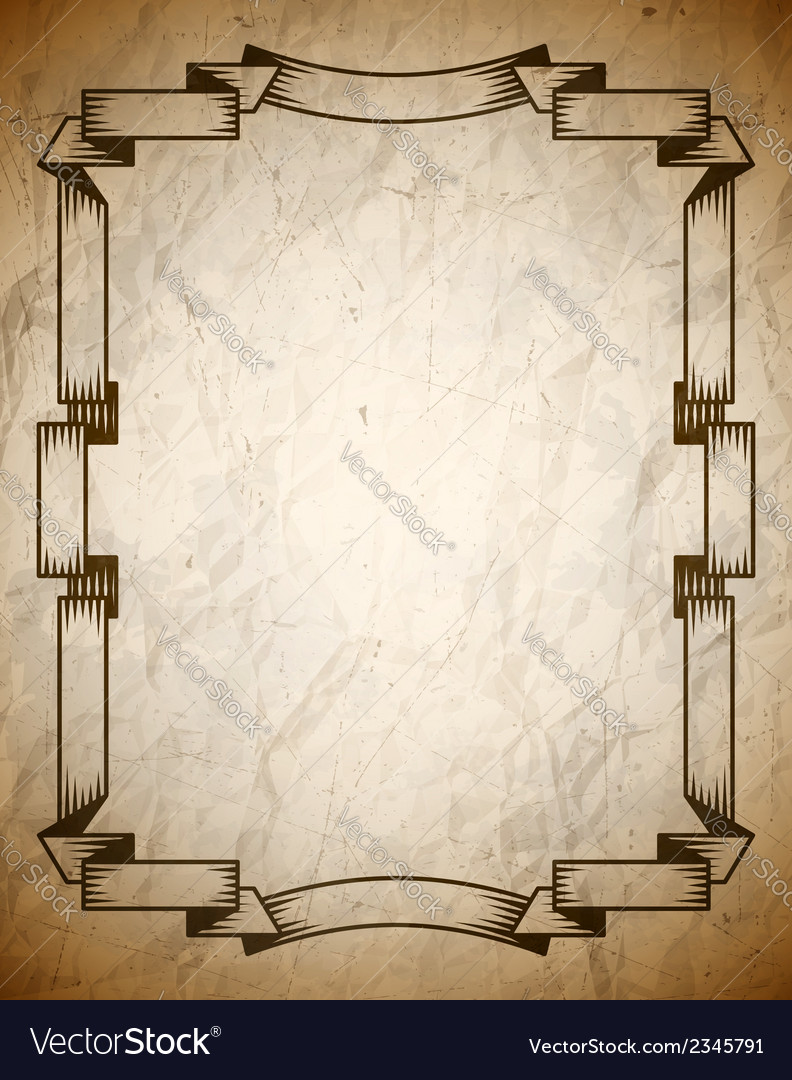 Aged poster with vintage frame vector | Price: 1 Credit (USD $1)