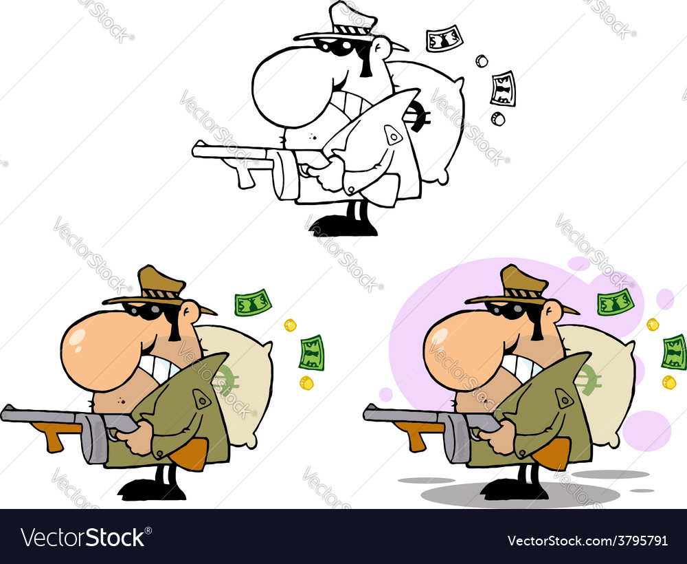 Cartoon gangster vector | Price: 1 Credit (USD $1)
