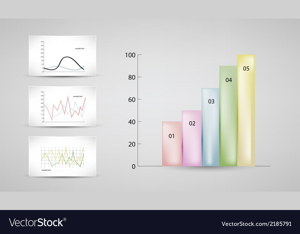 Charts and graphs vector | Price: 1 Credit (USD $1)