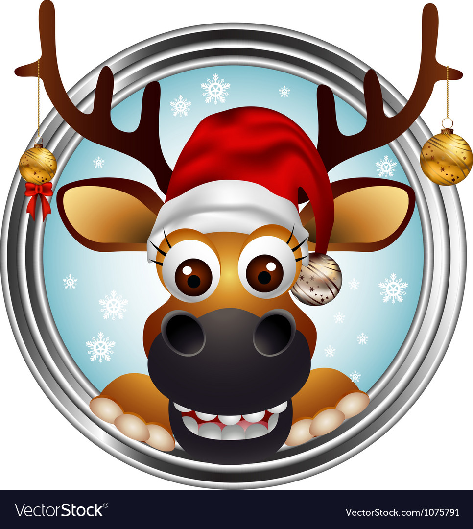 Christmas deer head vector | Price: 3 Credit (USD $3)