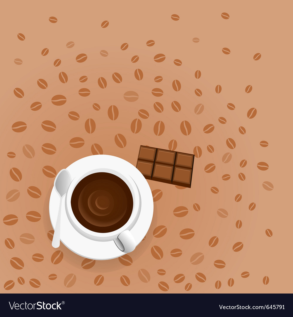 Coffee with chocolate vector | Price: 1 Credit (USD $1)