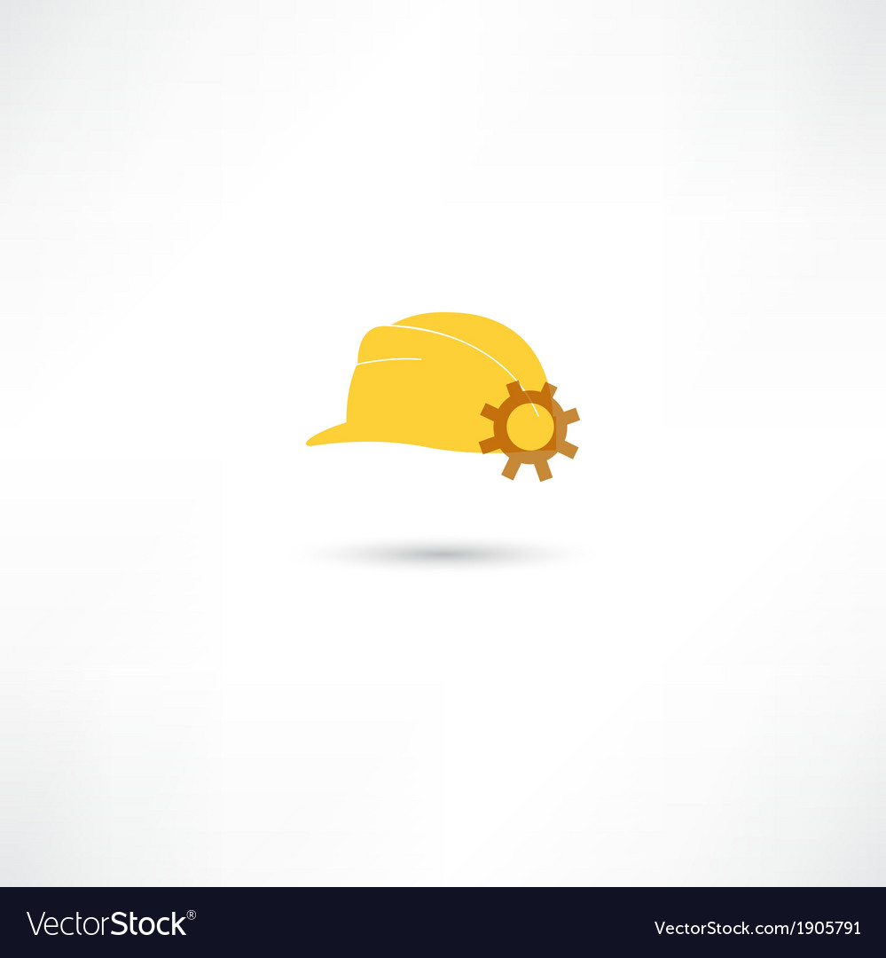 Helmet with a gear vector | Price: 1 Credit (USD $1)