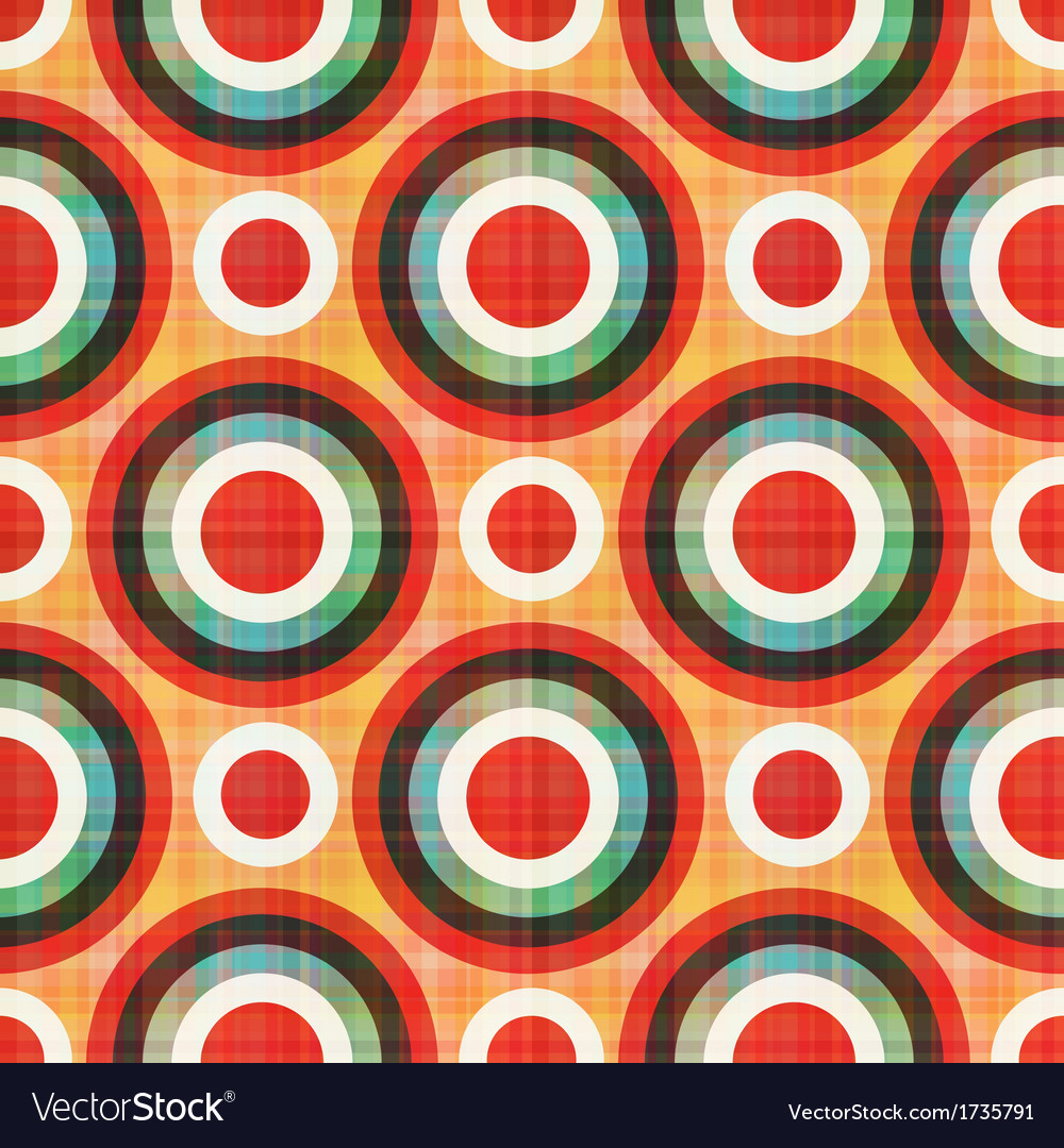 Seamless circles polka dots pattern vector | Price: 1 Credit (USD $1)
