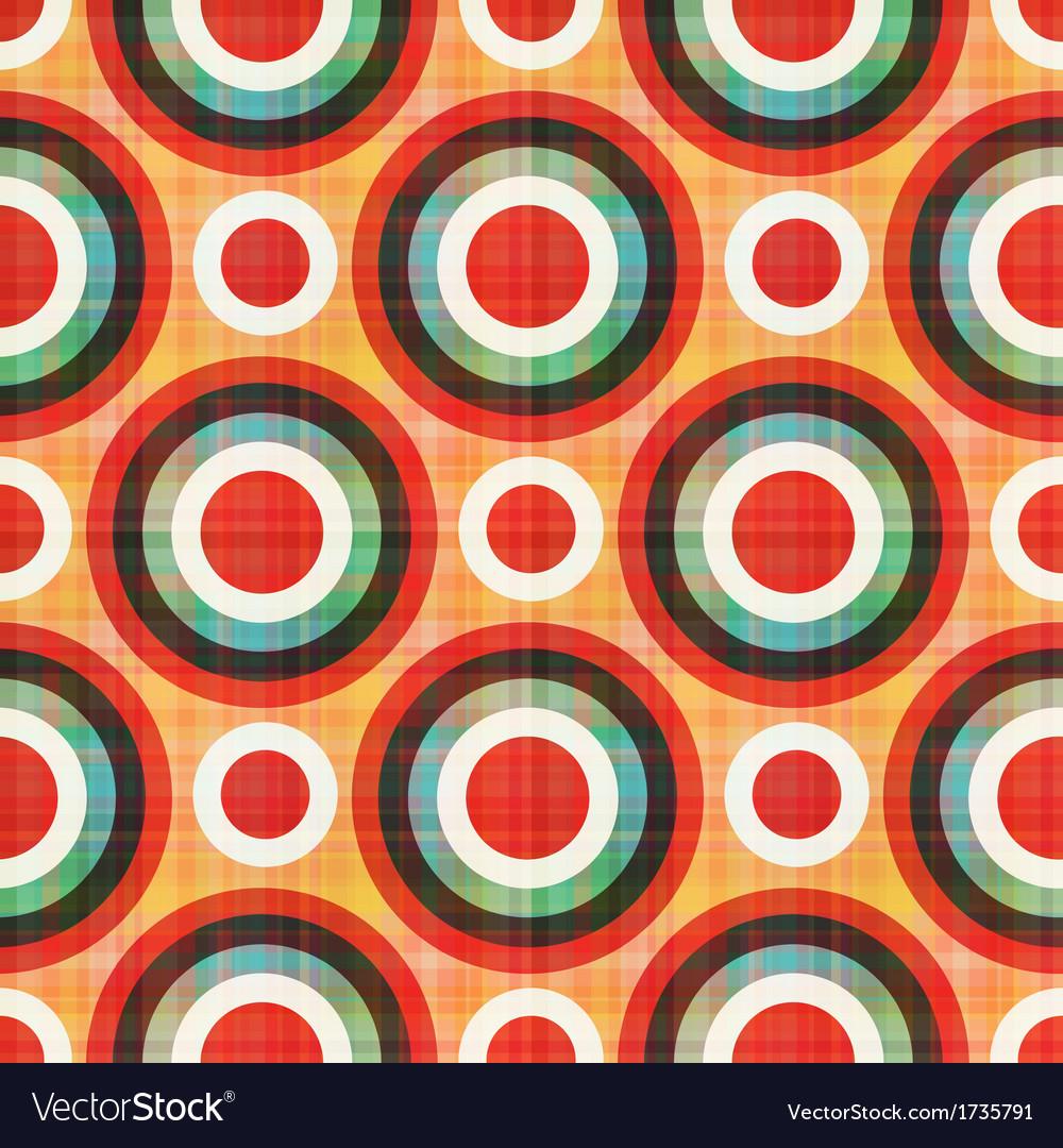 Seamless circles polka dots pattern vector   Price: 1 Credit (USD $1)