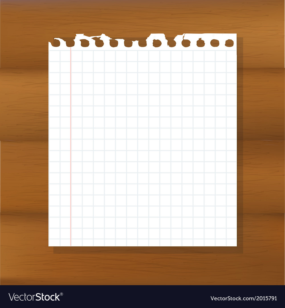 Sheet of paper on wooden background vector | Price: 1 Credit (USD $1)
