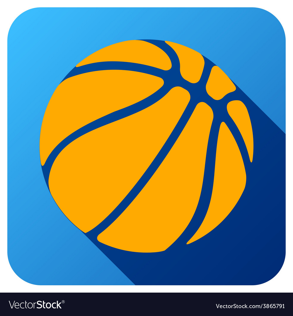 Sport icon with basketball ball in flat style vector | Price: 1 Credit (USD $1)