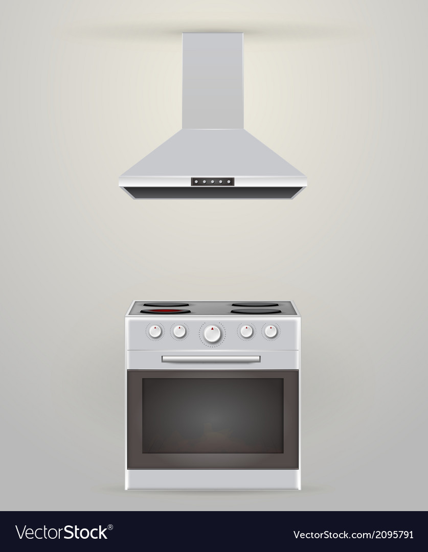 Stove and extractor vector   Price: 1 Credit (USD $1)