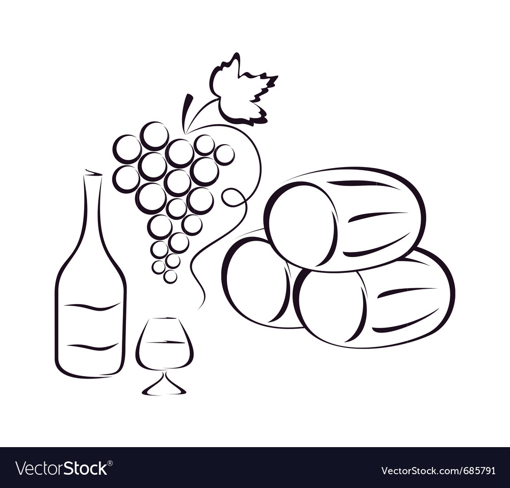 Wine composition vector | Price: 1 Credit (USD $1)