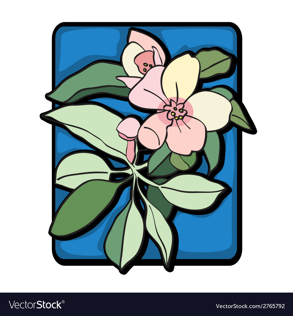 Apple tree clip art blue vector | Price: 1 Credit (USD $1)