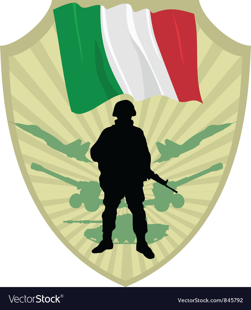 Army of italy vector | Price: 1 Credit (USD $1)