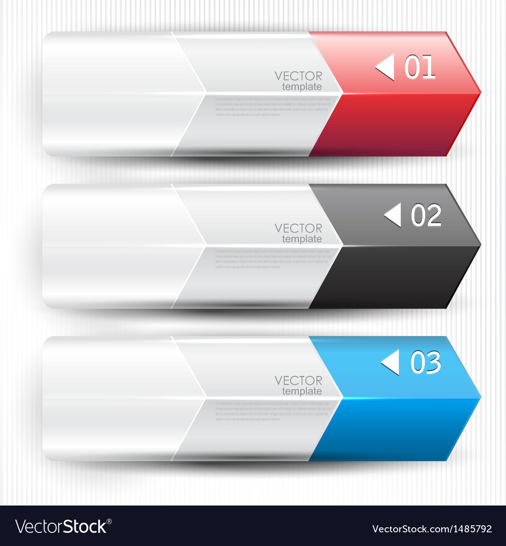 Colorful bookmarks arrows banners for text vector   Price: 1 Credit (USD $1)