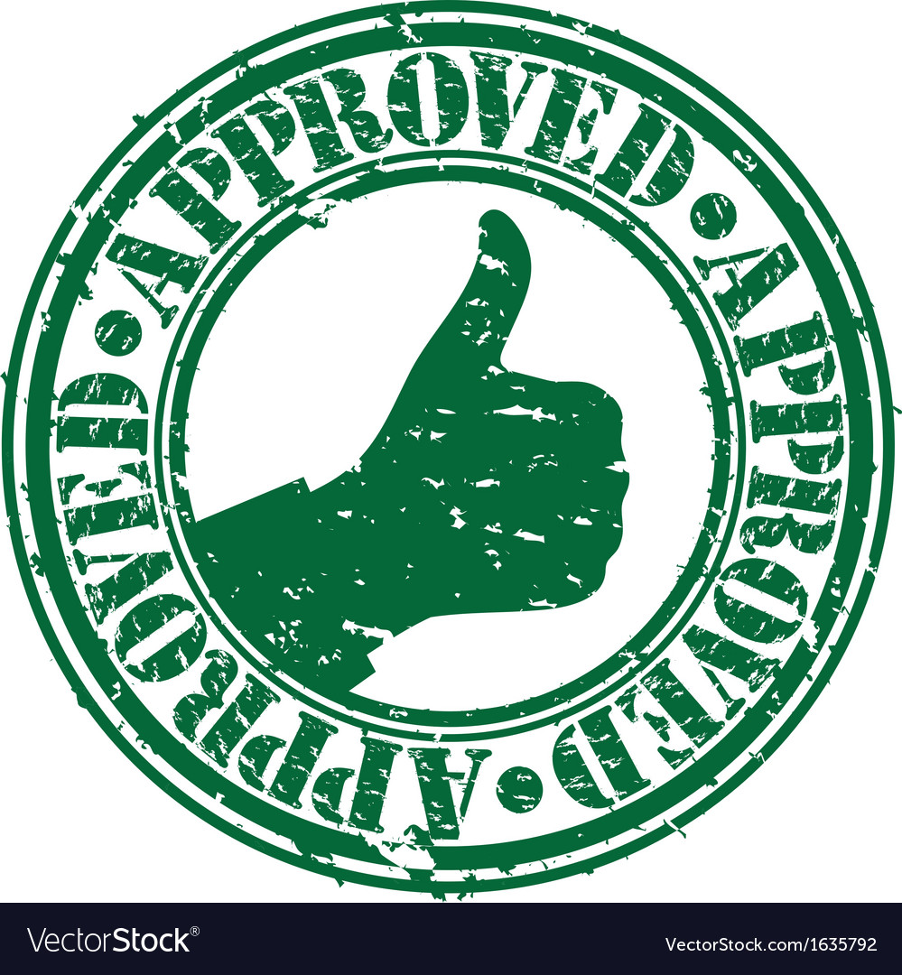 Grunge approved rubber stamp vector   Price: 1 Credit (USD $1)