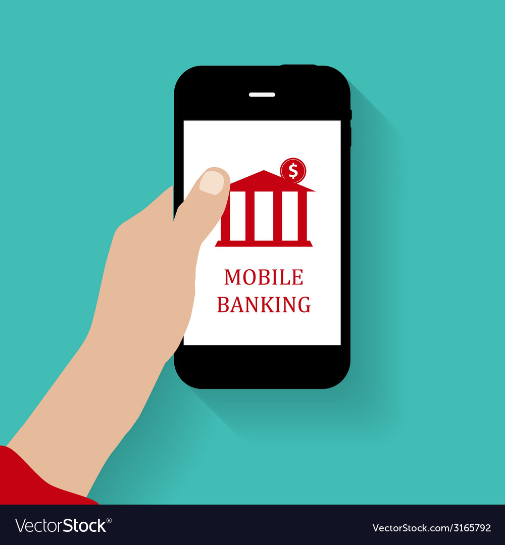 Mobile bank concept vector | Price: 1 Credit (USD $1)