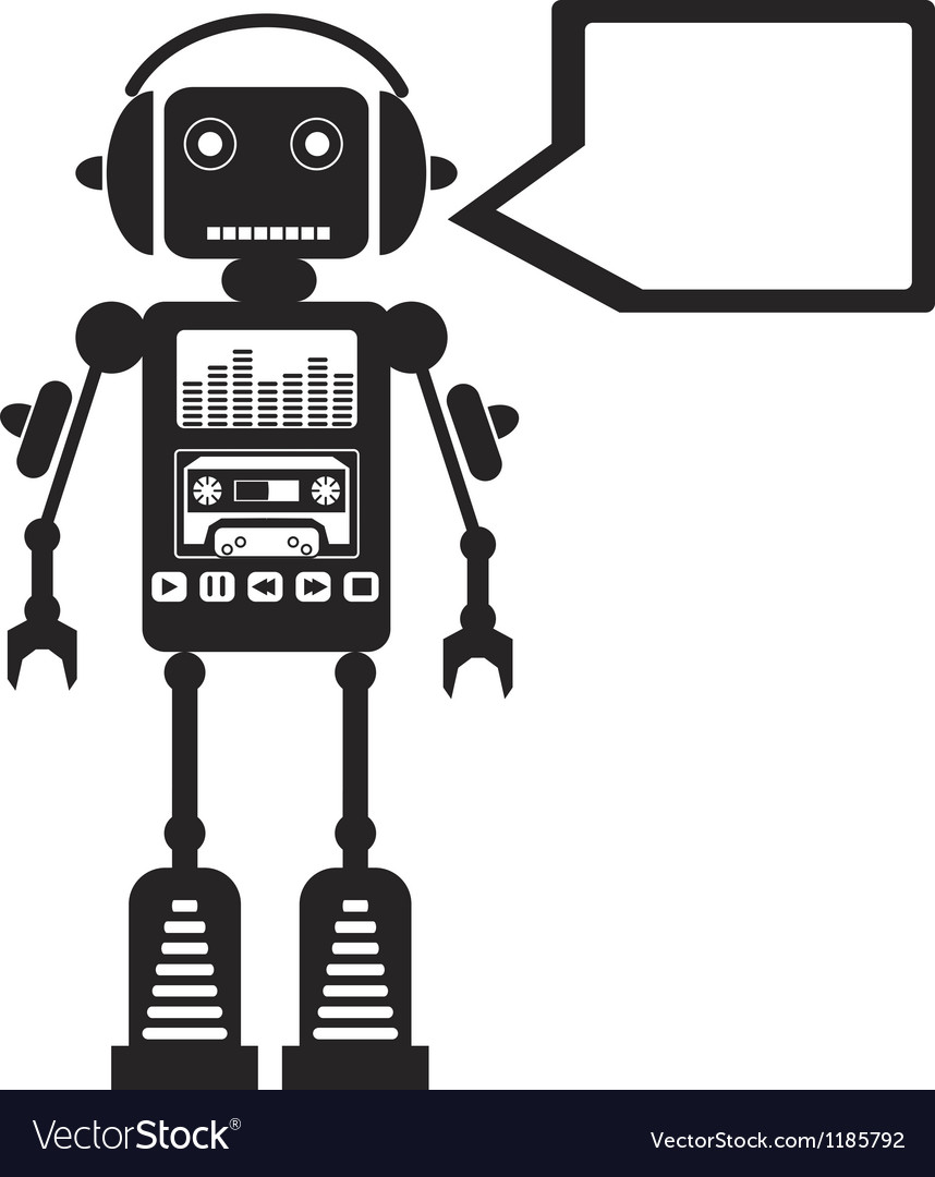 Music robot vector | Price: 1 Credit (USD $1)