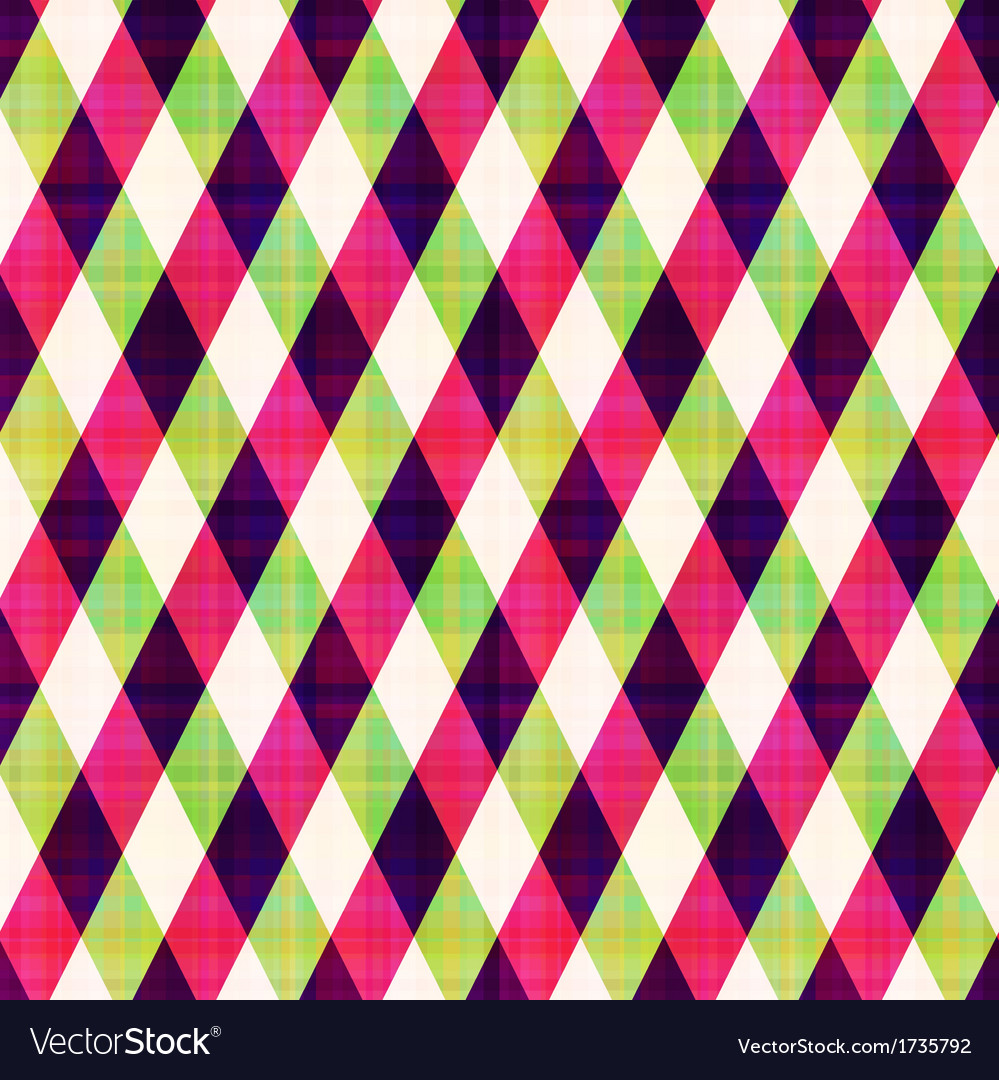 Seamless abstract geometric checkered pattern vector | Price: 1 Credit (USD $1)