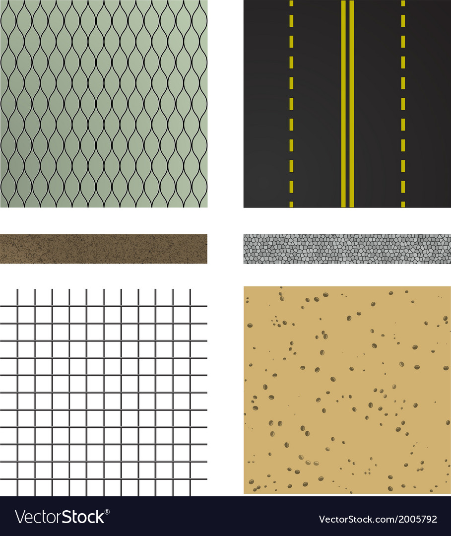 Set of asphalt road textures vector | Price: 1 Credit (USD $1)