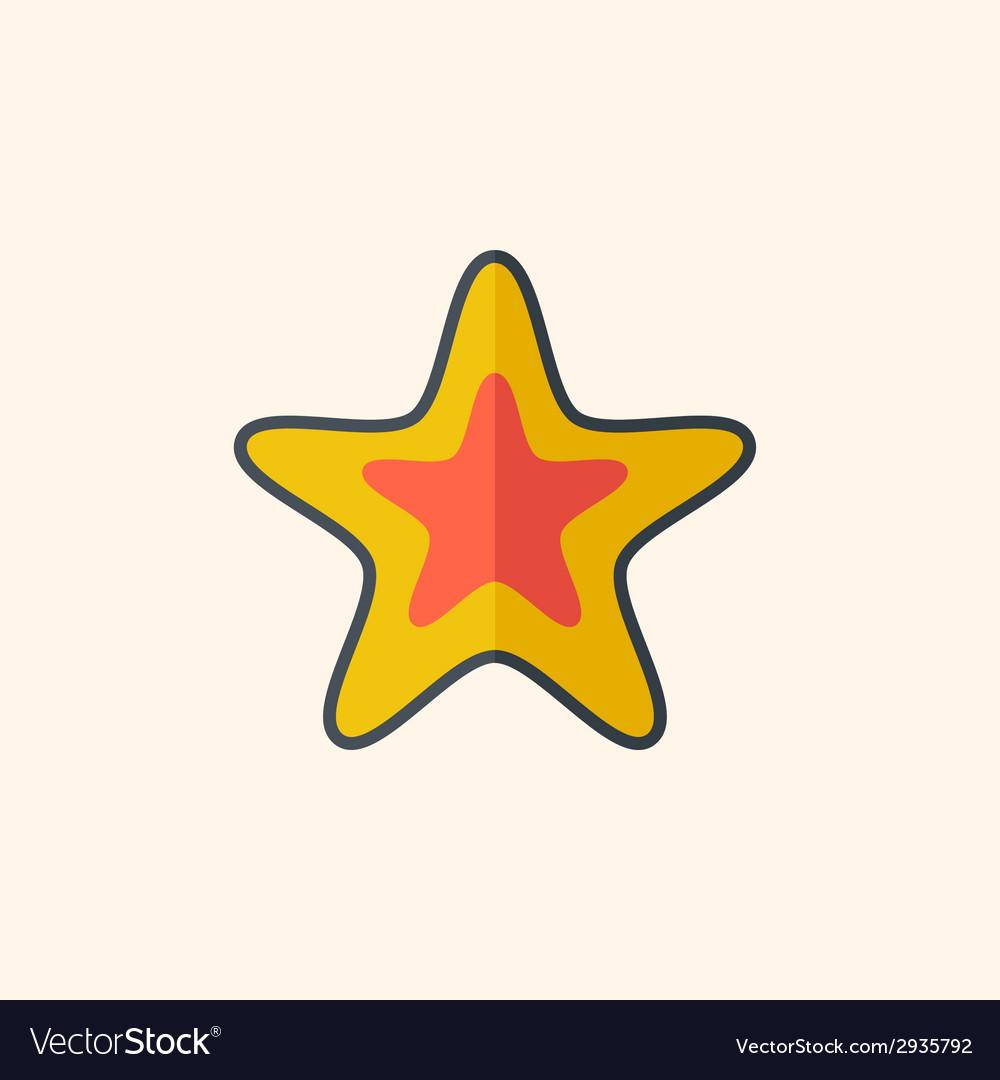Star travel flat icon vector | Price: 1 Credit (USD $1)
