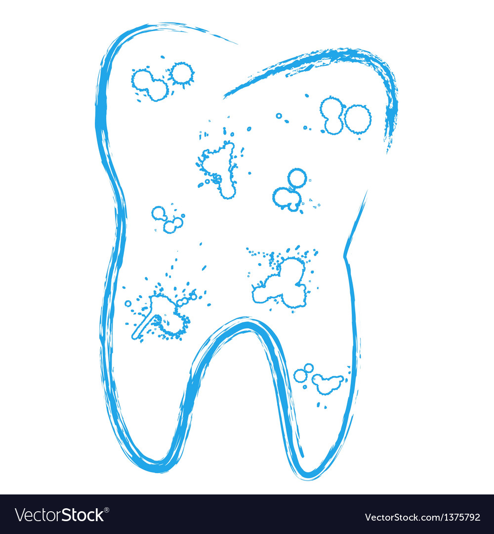 Tooth with caries vector | Price: 1 Credit (USD $1)