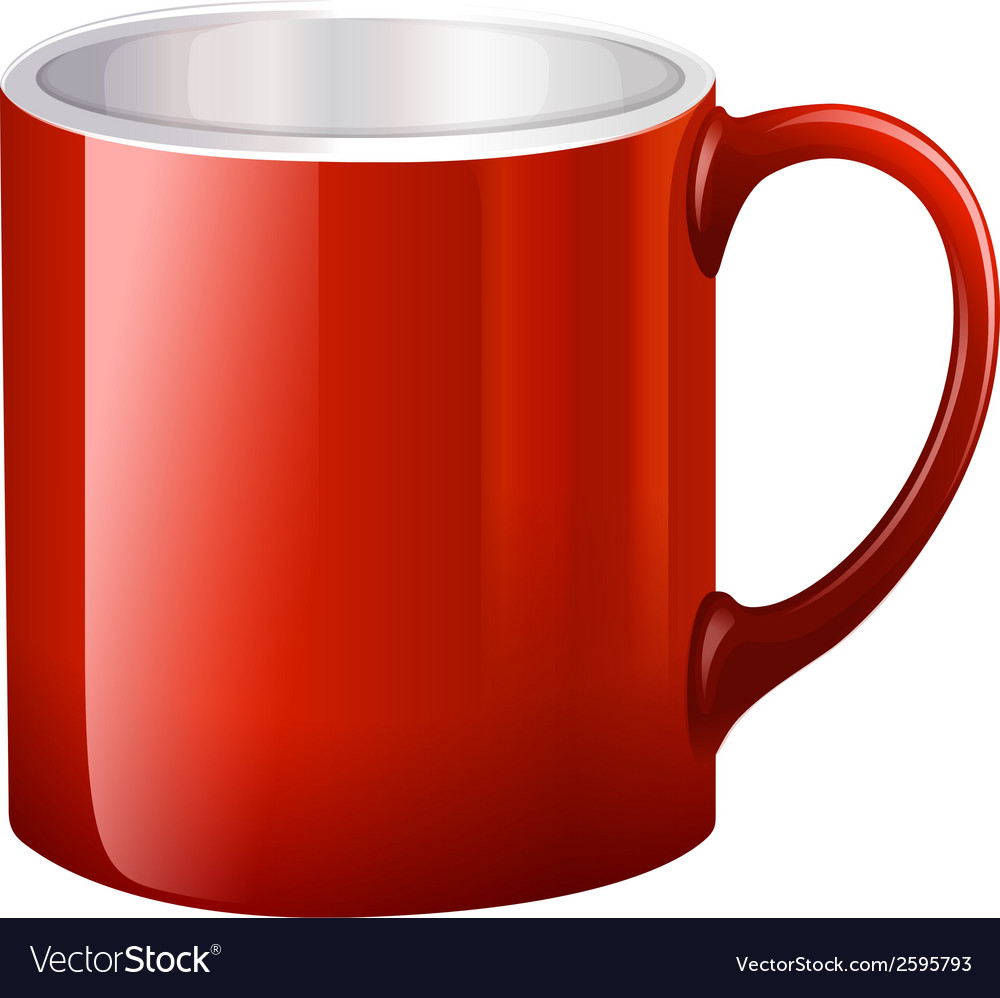 A handy red mug vector | Price: 1 Credit (USD $1)