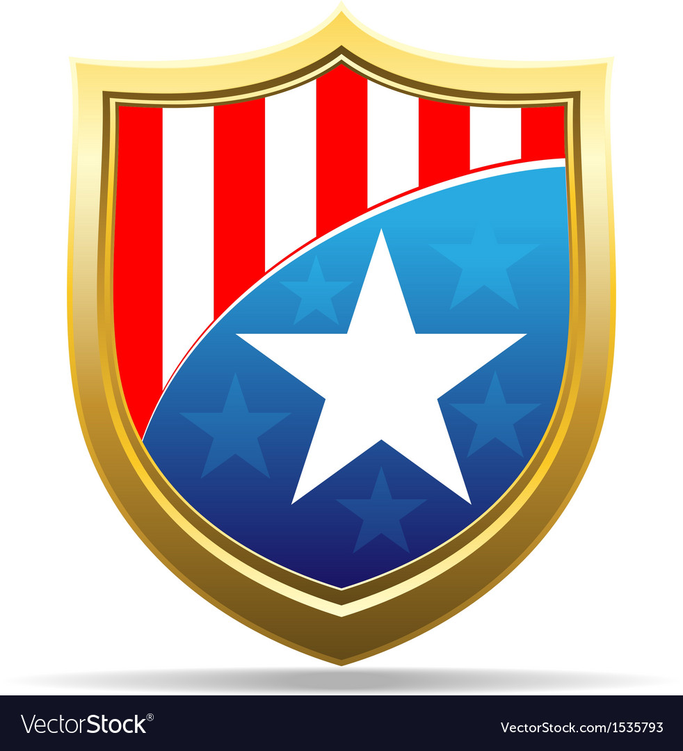American badge vector | Price: 1 Credit (USD $1)