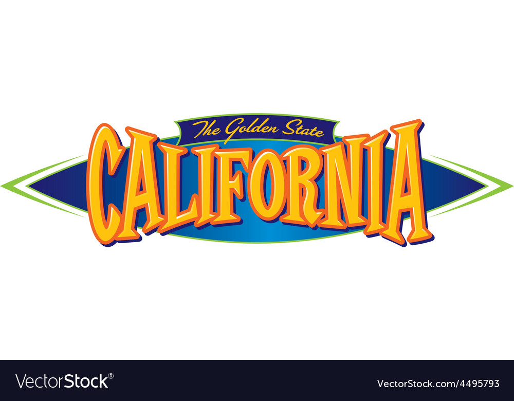 California the golden state vector | Price: 1 Credit (USD $1)