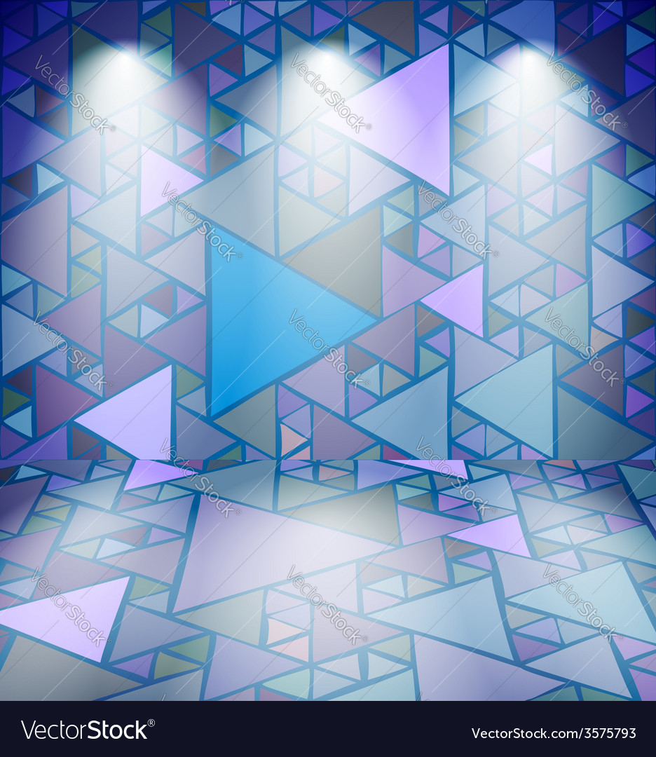 Club room with triangles vector | Price: 1 Credit (USD $1)