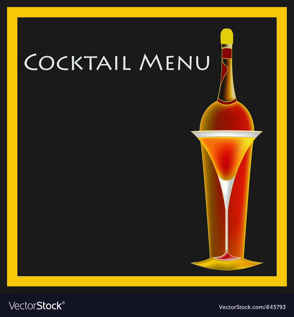 Cocktail menu template vector | Price: 1 Credit (USD $1)