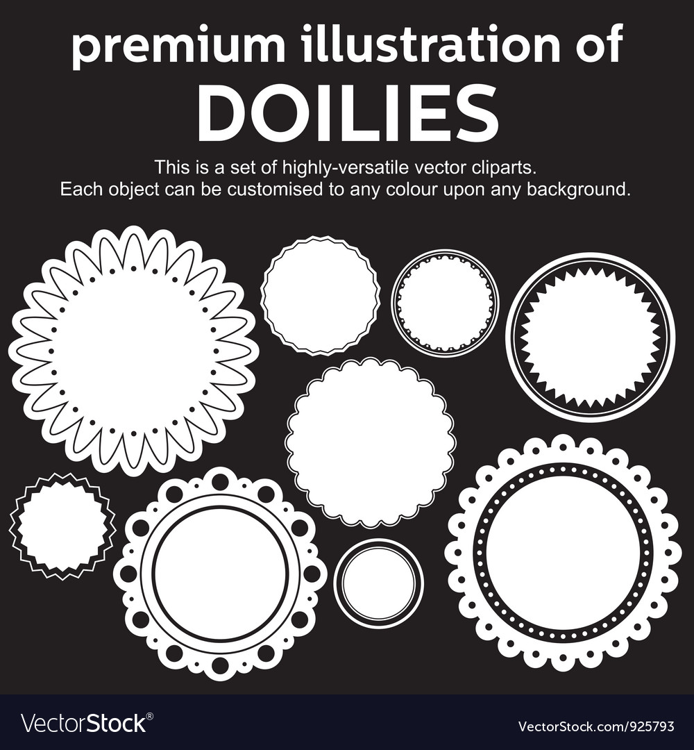 Doilies vector | Price: 1 Credit (USD $1)