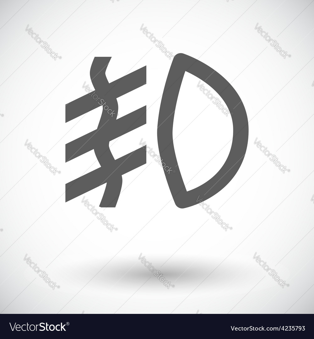 Front fog light vector | Price: 1 Credit (USD $1)