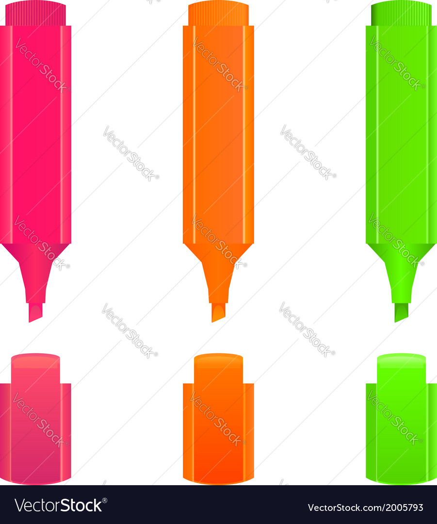 Highlighters vector | Price: 1 Credit (USD $1)