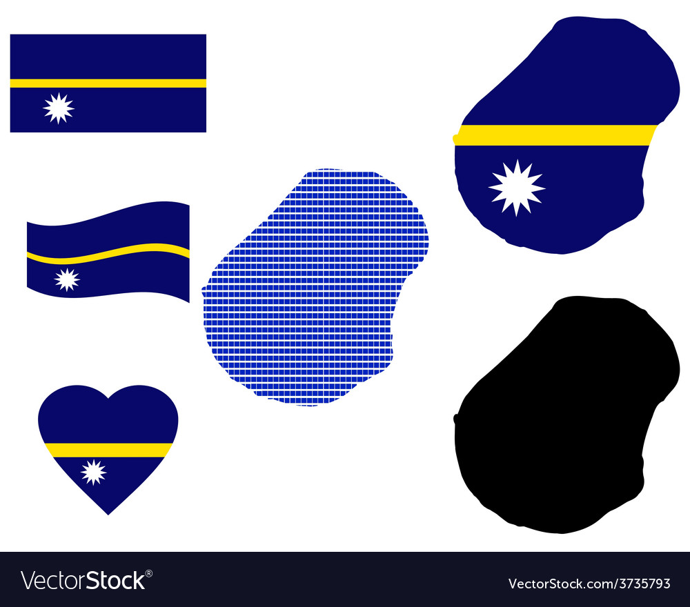 Nauru map vector | Price: 1 Credit (USD $1)