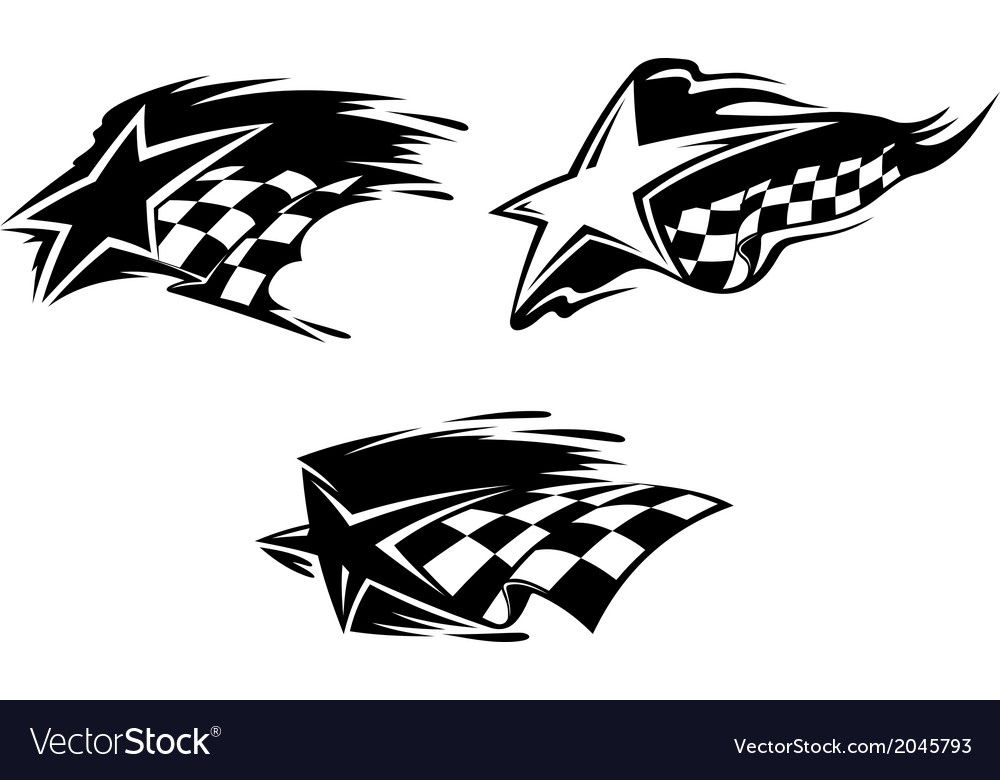 Racing symbols vector | Price: 1 Credit (USD $1)